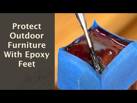 Protect Outdoor Furniture With Epoxy Feet!