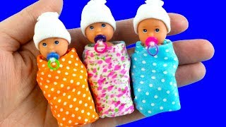 29 DIY Barbie Baby Hacks and Crafts | Miniature Baby Bed, Baby Bag, Baby Bottle, and more!