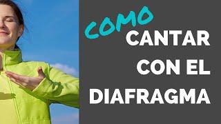 COMO CANTAR CON EL DIAFRAGMA