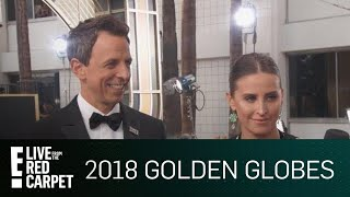 Seth Meyers Talks Tone of the 2018 Golden Globes | E! Live from the Red Carpet