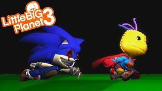 SONIC.EXE IS CHASING SACKBOY | LittleBIGPlanet 3 Gameplay (Playstation 4)