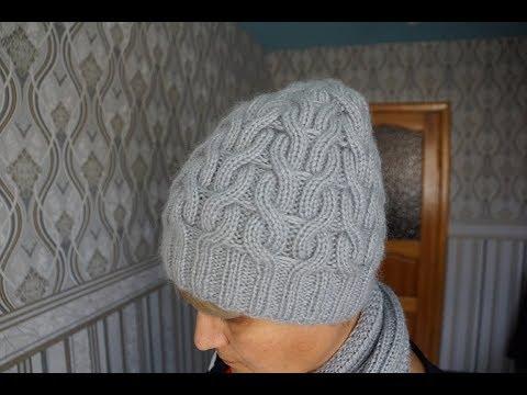 Две красивые  шапки  связаны резинкой 2х2.