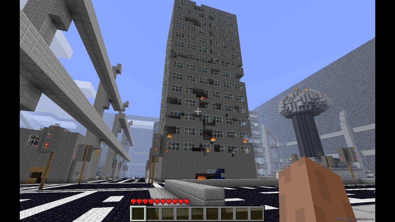 Карта зомби апокалипсис для майнкрафт 1.8