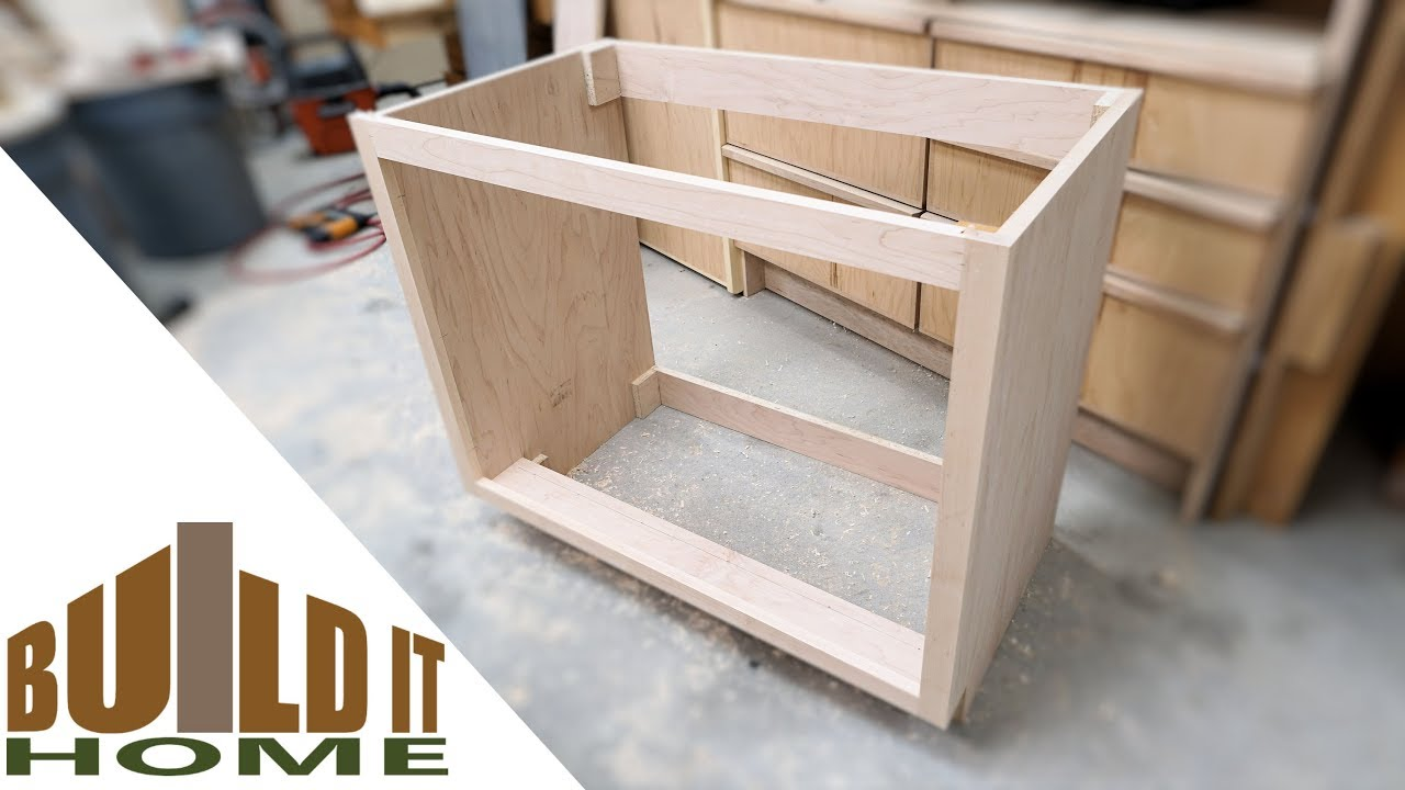 Building The Bathroom Vanity Cabinet Part YouTube - How to make a bathroom vanity