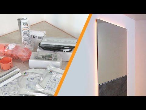 Installare uno specchio a parete con illuminazione a LED: Schlüter ...