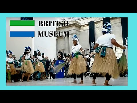 LONDON: DANCING from SIERRA LEONE and Masquerade celebration, BRITISH MUSEUM