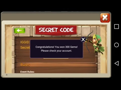 SECRET CODES!!!!-CASTLE CLASH