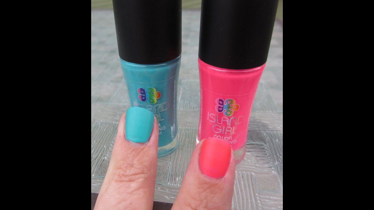 Island Girl Mood Color Changing Nail Polish Review - YouTube