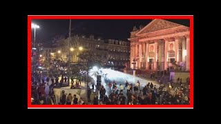 24/7 news-Brussels riot after winning soccer Morocco