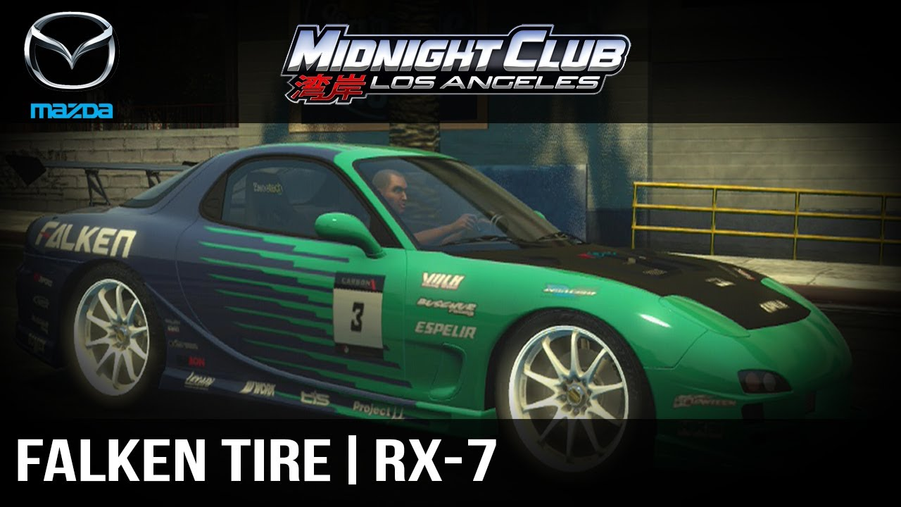 How to make full tutorial midnight club l a falken tire rx 7 youtube
