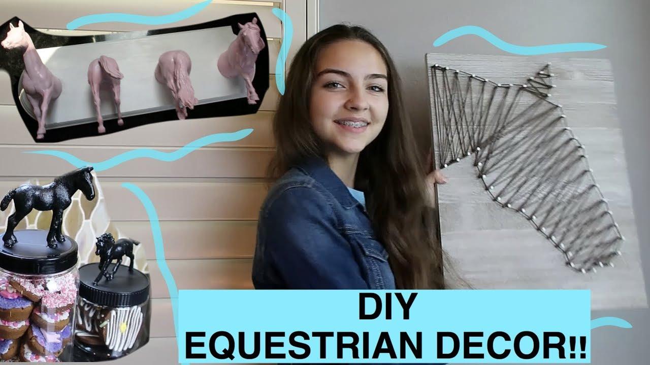 DIY EQUESTRIAN ROOM DECOR!!!