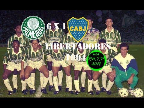 Palmeiras 6 x 1 Boca Juniors - Copa Libertadores 1994 - Gols