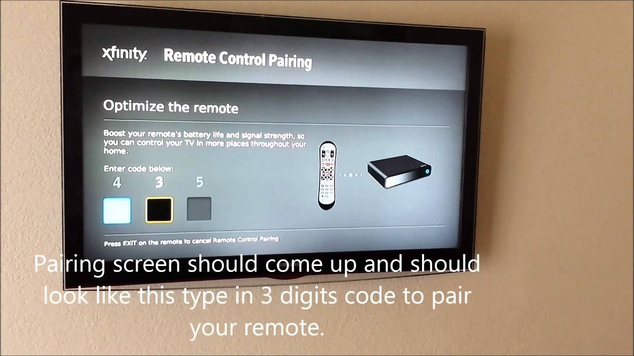 How To Pair Xfinity X1 Remote Youtube