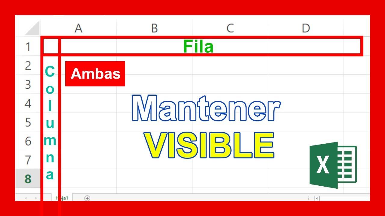 Como Inmovilizar Filas Y Columnas En Excel Al Mismo Tiempo Youtube