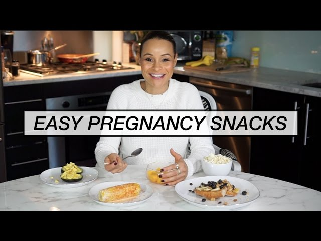 What I Eat in a Day Pregnant ll Easy Pregnancy Snacks