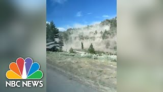 WATCH: Rock Slide From CA Earthquake Caught On Camera