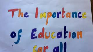 The Importance of Education for All