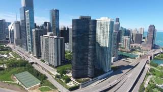 Drone over Chicago