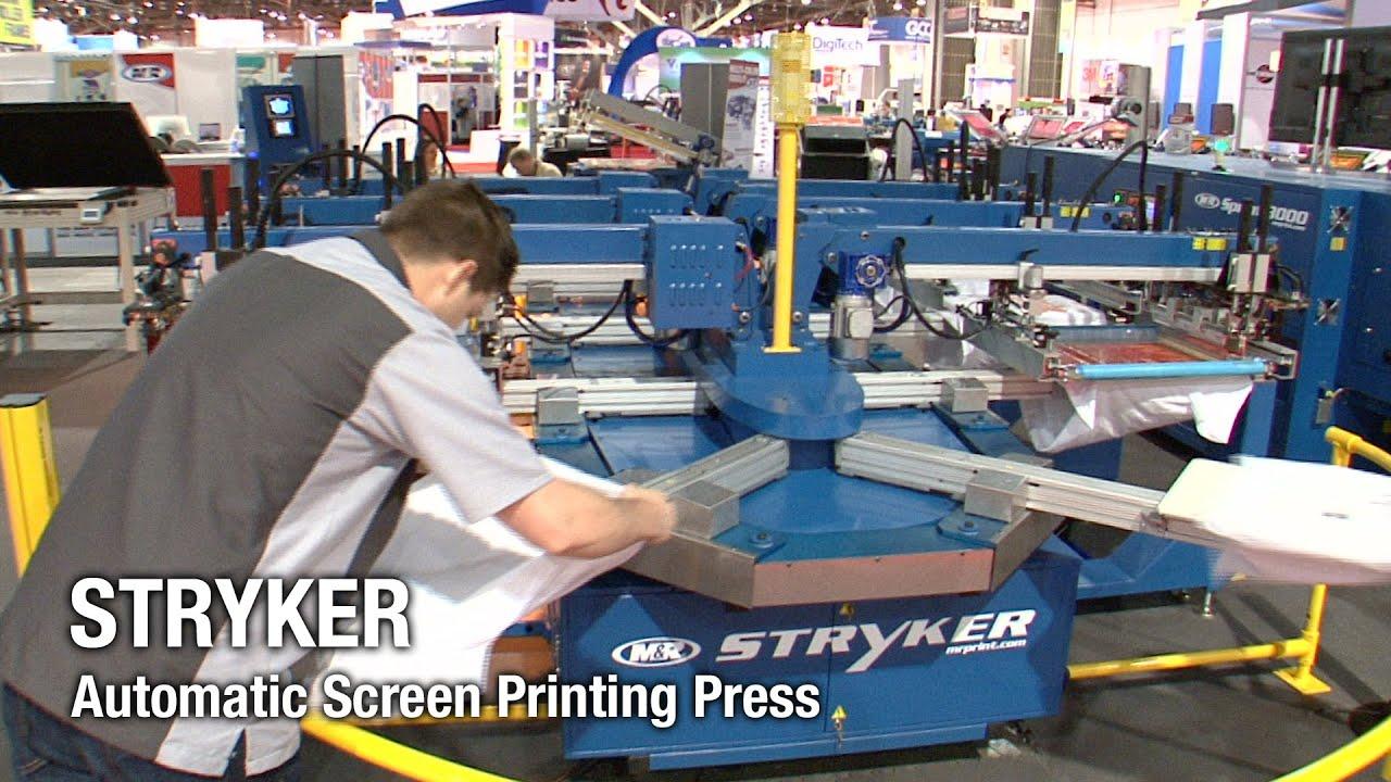 Stryker Automatic Screen Printing Press M Amp R Screen