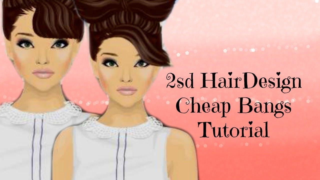 Stardoll Tutorial 2sd Hair Design Bangsfringe Hair Design