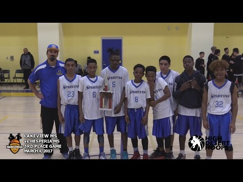 3rd Place Game:  Lakeview Middle School defeats  Hesperia Middle School (Boys) 3/4/17