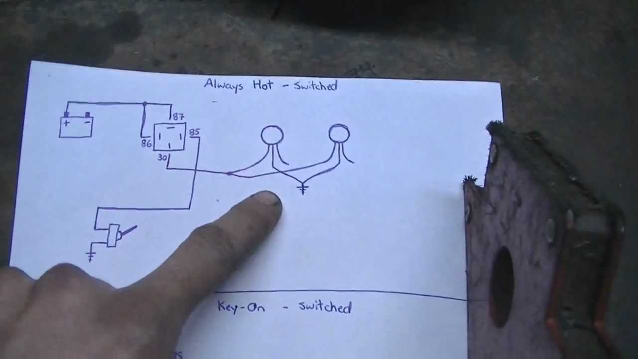 wiring diagram for relay spotlights printable anatomy light with relays redt4r1 (06/10/12) - youtube