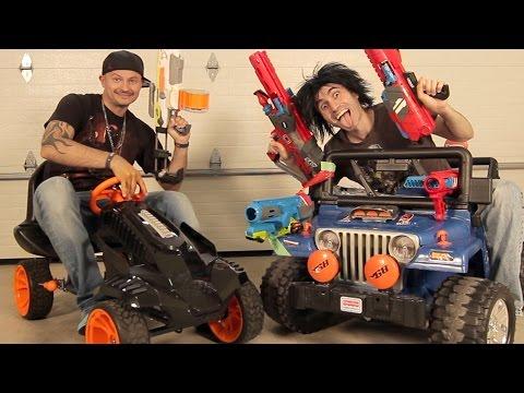 NERF BATTLE RACER vs BOOMCO BLASTER BUGGY!   Nerf War!