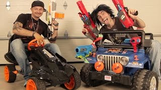 NERF BATTLE RACER vs BOOMCO BLASTER BUGGY!   Nerf War! thumbnail