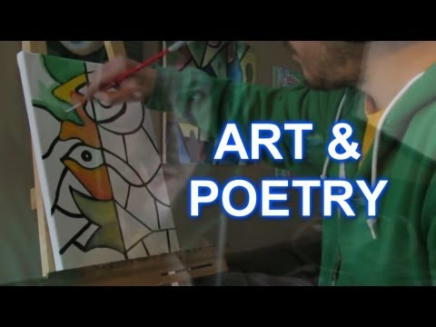 LIFE IS ART by RAEART and DAN TEOLIS Collaboration PAINTING and POETRY