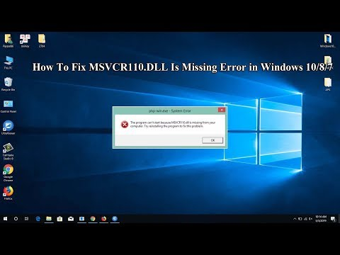 How To Fix MSVCR110.dll Is Missing Error In Windows 10/8/7