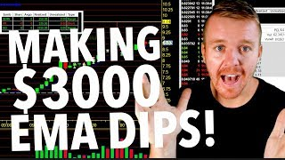 DAY TRADING $3000 DOLLARS WITH EMA INDICATOR!