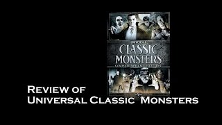 DVD Movie Box Set Review : Universal Classic Monster Horror Movies