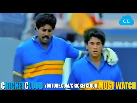 SACHIN Just 16 Year of Age at his Best - MAKING of GOD OF CRICKET !!
