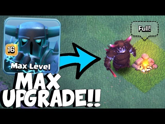 MAX SUPER PEKKA!!   Clash Of Clans   BH8 UPDATE!