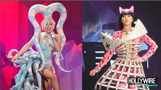 Katy Perry Vs. Lady Gaga: Battle of the Performances!! (BEST TOUR OUTFITS)