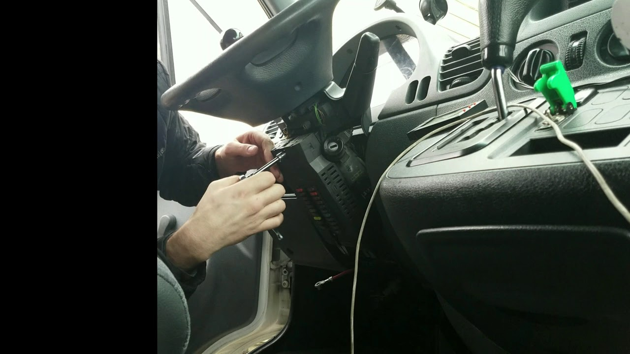 sprinter how to remove fuse block 1 under steering wheel 02 06 mercedes sprinter fuse box removal [ 1280 x 720 Pixel ]
