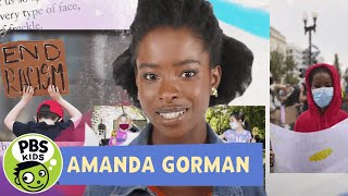 "Inaugural Poet Amanda Gorman reads ""Talking Gets Us There"" 