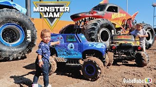 PLAYING WITH MONSTER TRUCKS!