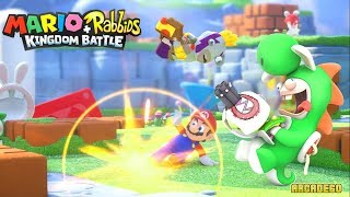 Mario + Rabbids Kingdom Battle 100% Walkthrough Part 2 - WORLD 2 SHERBET DESERT All Level All Bosses