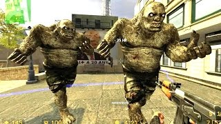 Counter Strike Source Zombie Horde mod online gameplay on Desert Atrocity map