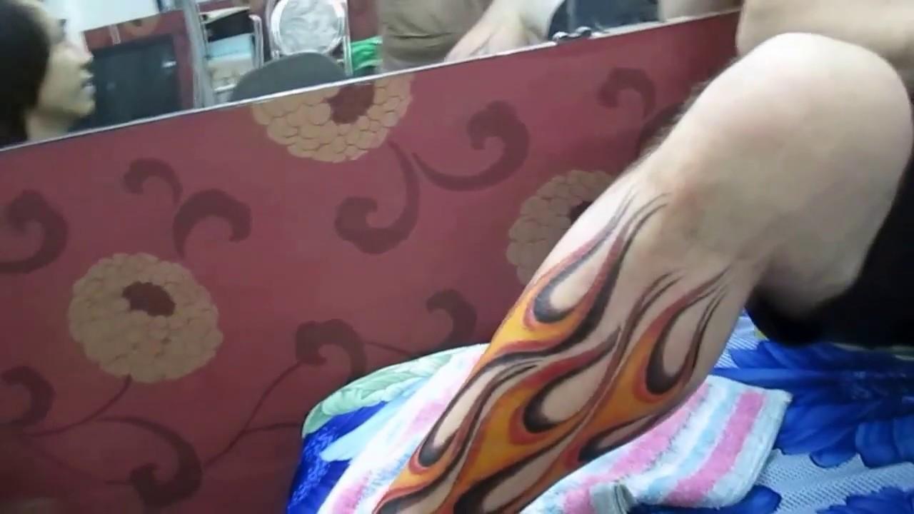 *** HÌNH XĂM NGỌN LỬA CHO KHÁCH NGƯỜI PHÁP. [ Shop Nhuyễn Tattoo Q.Phú Nhuận 0983.419 413 ]