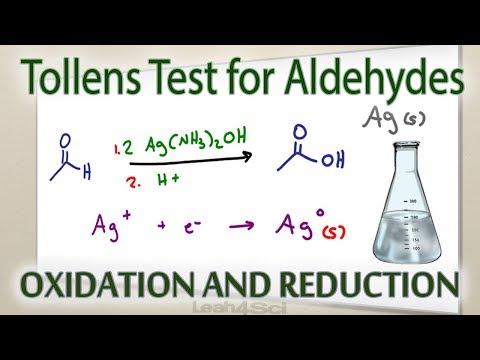 Tollens Reagent Silver Mirror Test For Aldehydes