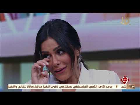 """التاسعة  لحظة بكاء الفنانة إنجي المقدم أثناء عرض مشهد إخبار زوجة الشهيد """"محمد مبروك"""" باستشهاده"""