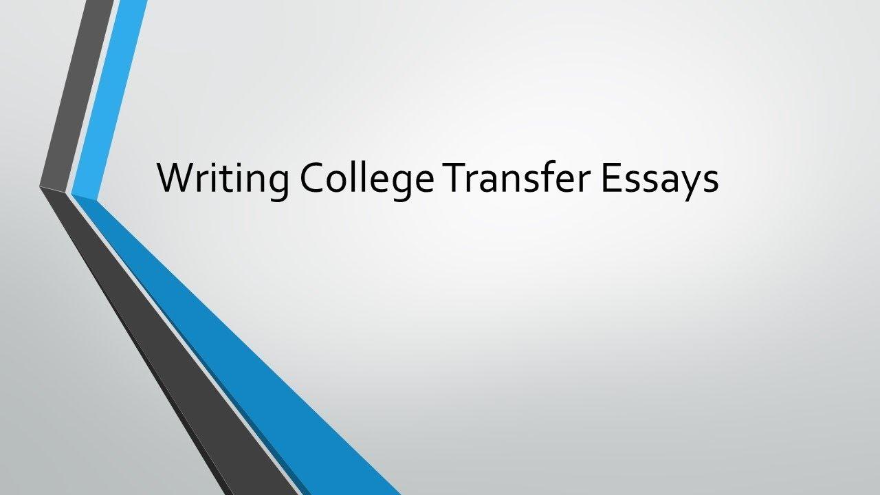 College transfer essay