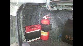 видео держатель огнетушителя автомобильный