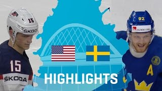 USA - Sweden | Highlights | #IIHFWorlds 2017