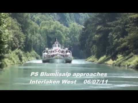 Paddle Steamers of Switzerland - PS Blumlisalp - Lake Thun