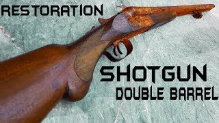 Vintage Double Barrel ShotGun - Impressive RESTORATION