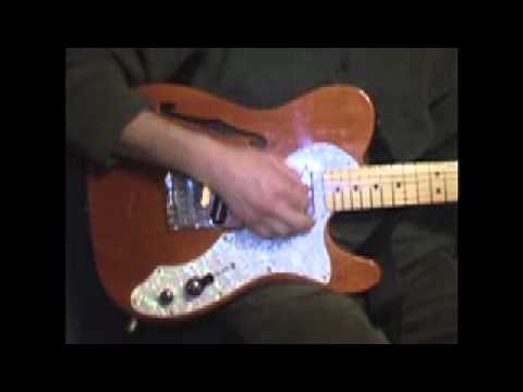 Fender Thinline Telecaster Electric Guitar Fishman Power Acoustic Piezo Pickup Bridge Demo