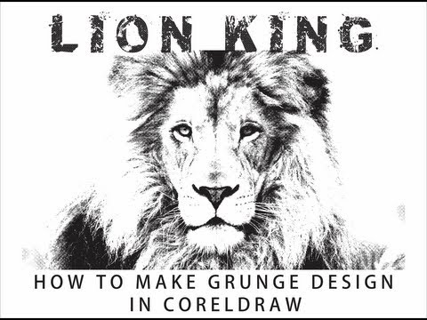 How to make grunge effect in Coreldraw using bitmap tools